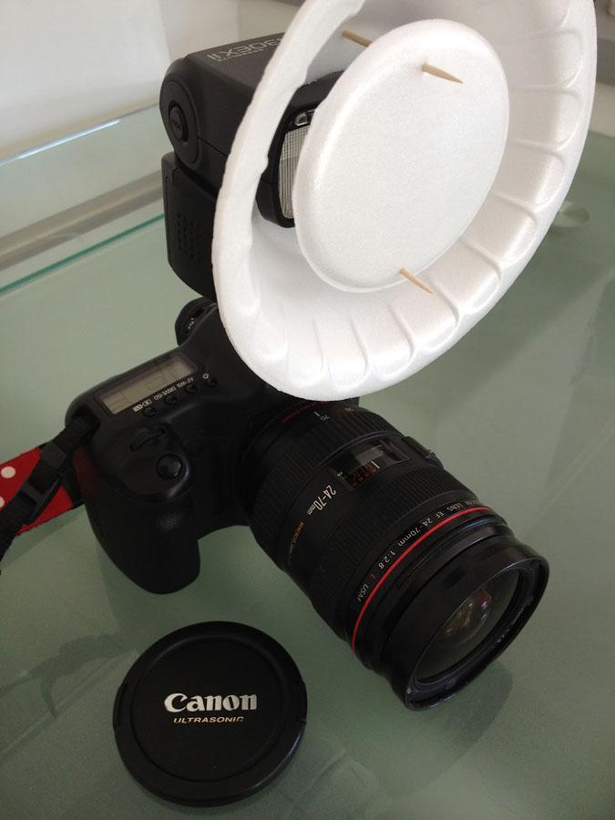 Портретная тарелка на фотовспышку
