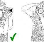 Как правильно держать фотоаппарат