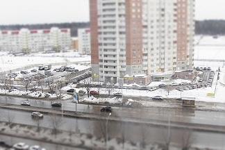 Эффект миниатюры на улицах Тольятти